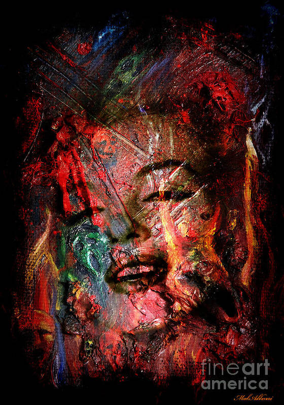 Marilyn Monroe  Art Print featuring the painting Marilyn Monroe by Mark Ashkenazi