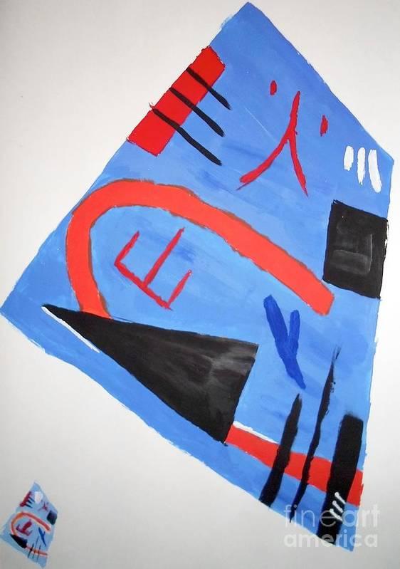 Abstract Art Print featuring the painting Abstract In Japanese Style by Eliza Donovan
