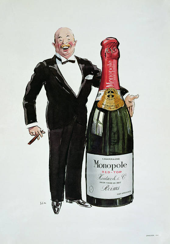 Reims Art Print featuring the painting Advertisement For Heidsieck Champagne by Sem