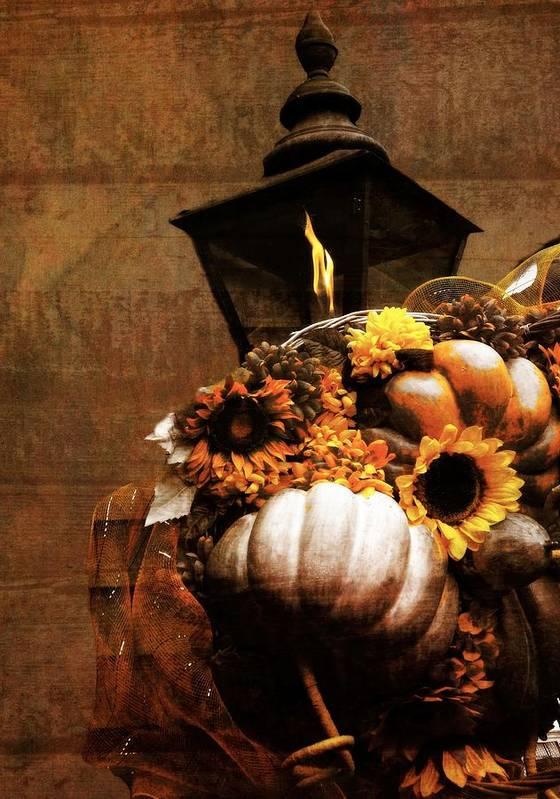 Autumn Light Post Art Print featuring the photograph Autumn Light Post by Dan Sproul