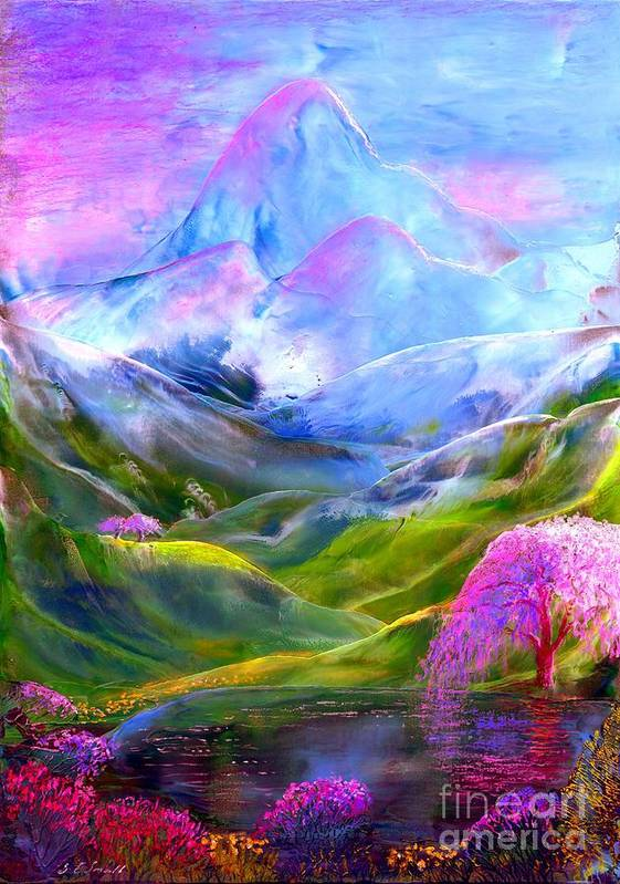 Mountain Art Print featuring the painting Blue Mountain Pool by Jane Small