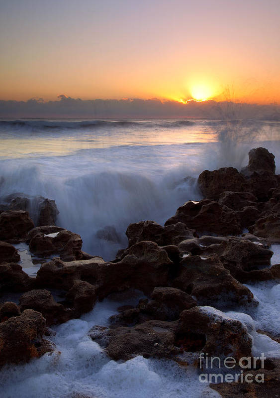 Coral Cove Art Print featuring the photograph Breaking Dawn by Mike Dawson