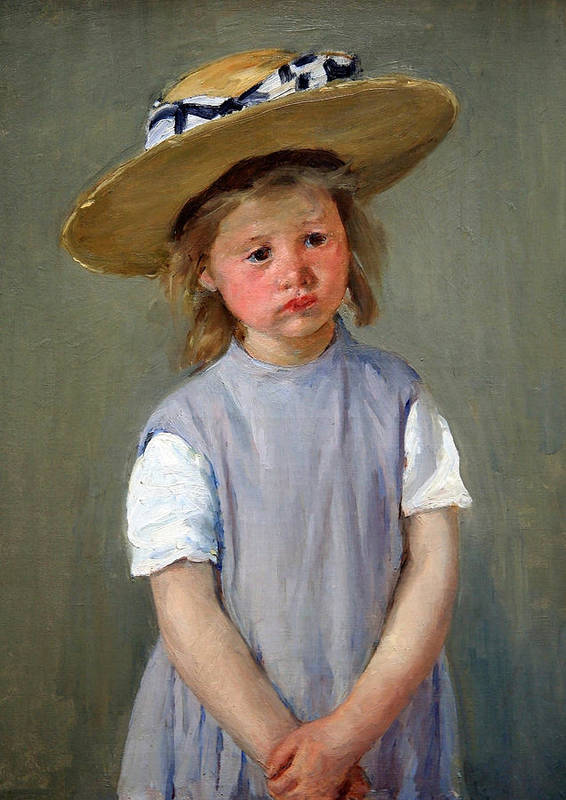 Child In A Straw Hat Art Print featuring the photograph Cassatt's Child In A Straw Hat by Cora Wandel