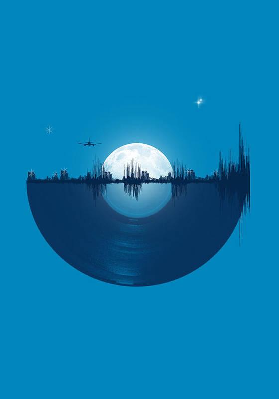 City Art Print featuring the digital art City Tunes by Neelanjana Bandyopadhyay