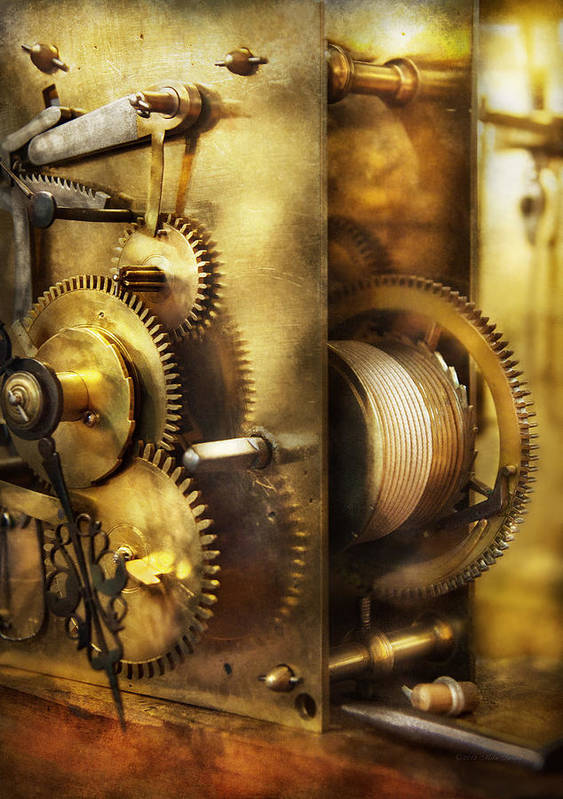 Clockmaker Art Print featuring the photograph Clockmaker - We All Mesh by Mike Savad