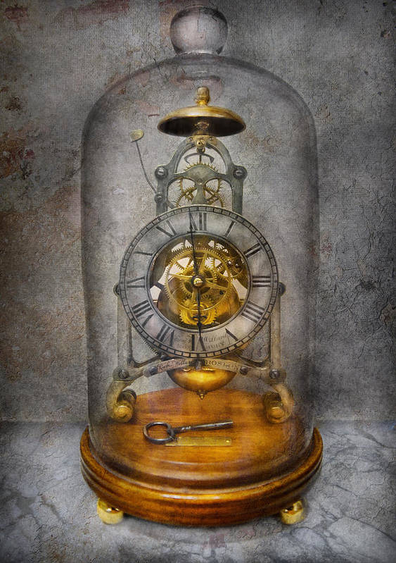 Clockmaker Art Print featuring the photograph Clocksmith - The Time Capsule by Mike Savad
