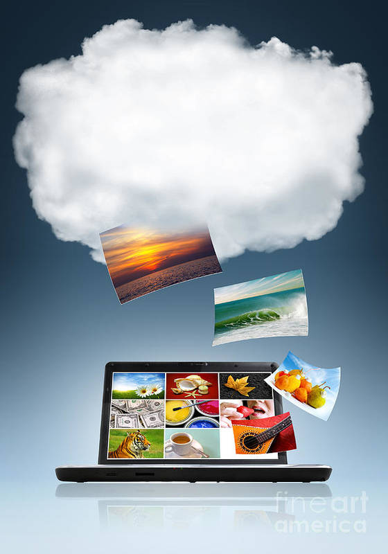 Access Art Print featuring the photograph Cloud Technology by Carlos Caetano
