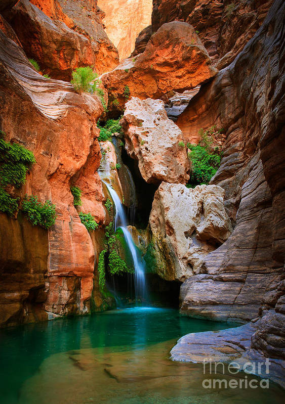 America Art Print featuring the photograph Elves Chasm by Inge Johnsson