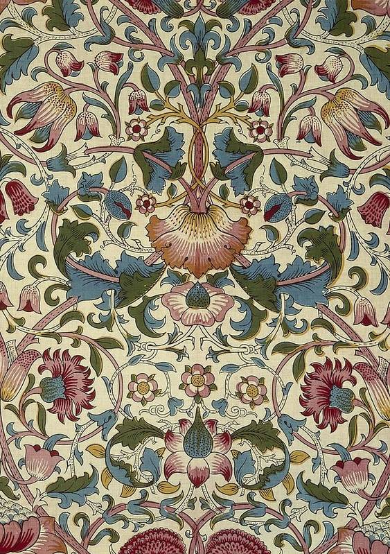 William Art Print featuring the tapestry - textile Floral Pattern by William Morris