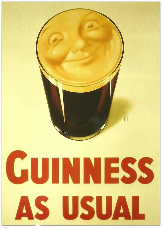 Guinness As Usual Art Print by Georgia Fowler