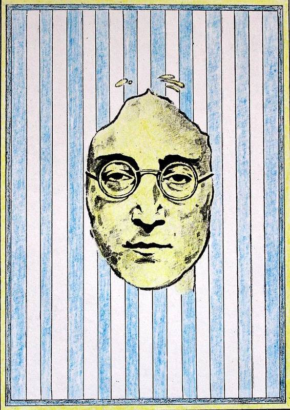 John Lennon Print featuring the mixed media Homage To John Lennon by John Nolan