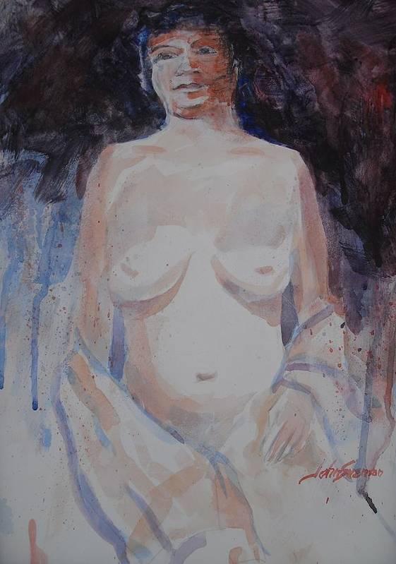 John Svenson Art Print featuring the painting Jane by John Svenson