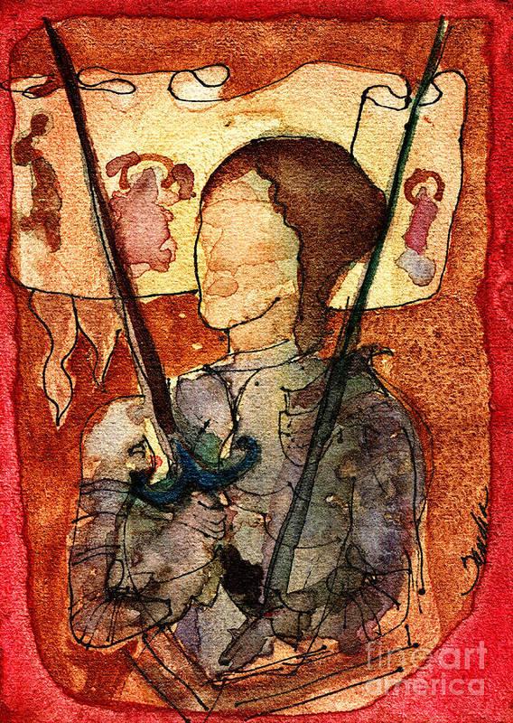 St. Joan of Arc Fine Art Giclée Print Jeanne DArc (With