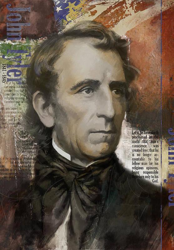 John Tyler Art Print featuring the painting John Tyler by Corporate Art Task Force