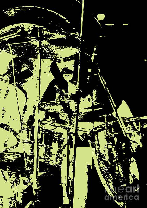 Led Zeppelin Art Print featuring the digital art Led Zeppelin No.05 by Caio Caldas