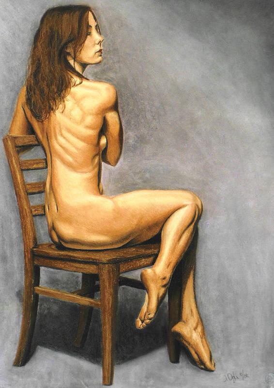 Joe Ogle Art Print featuring the pastel Madame Brooke by Joseph Ogle