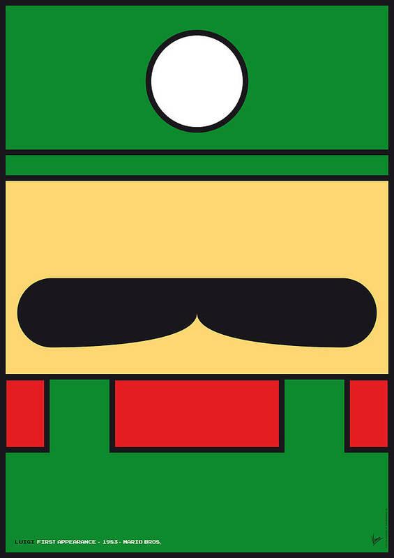 Mario Art Print featuring the digital art My Mariobros Fig 02 Minimal Poster by Chungkong Art