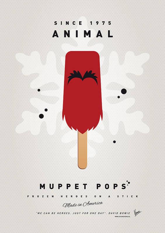 Muppets Art Print featuring the digital art My Muppet Ice Pop - Animal by Chungkong Art