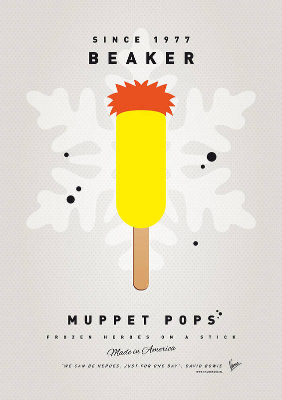 Muppets Art Print featuring the digital art My Muppet Ice Pop - Beaker by Chungkong Art