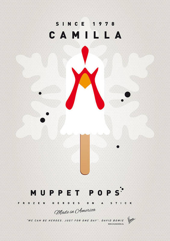 Muppets Print featuring the digital art My Muppet Ice Pop - Camilla by Chungkong Art