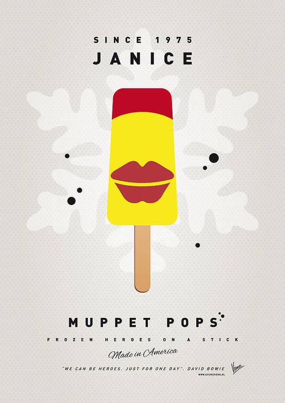Muppets Art Print featuring the digital art My Muppet Ice Pop - Janice by Chungkong Art