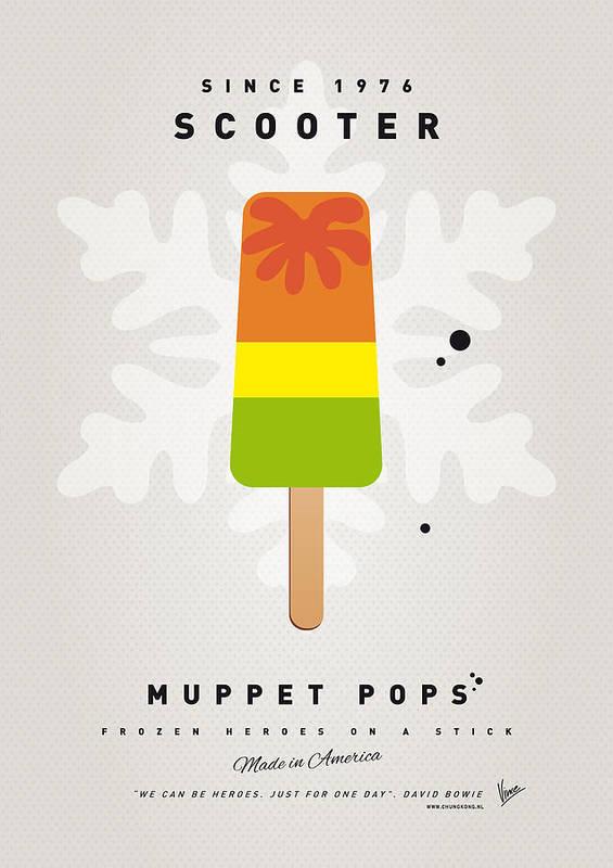 Muppets Art Print featuring the digital art My Muppet Ice Pop - Scooter by Chungkong Art