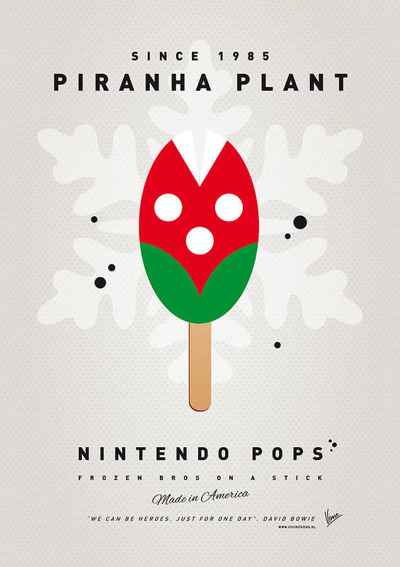 1 Up Art Print featuring the digital art My Nintendo Ice Pop - Piranha Plant by Chungkong Art