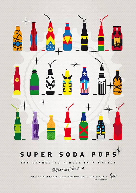 Icepops Art Print featuring the digital art My Super Soda Pops No-00 by Chungkong Art
