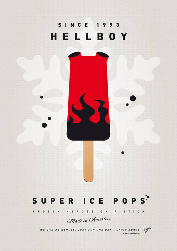 Superheroes Art Print featuring the digital art My Superhero Ice Pop - Hellboy by Chungkong Art