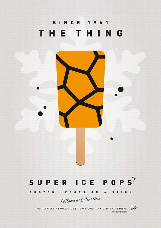 Superheroes Art Print featuring the digital art My Superhero Ice Pop - The Thing by Chungkong Art