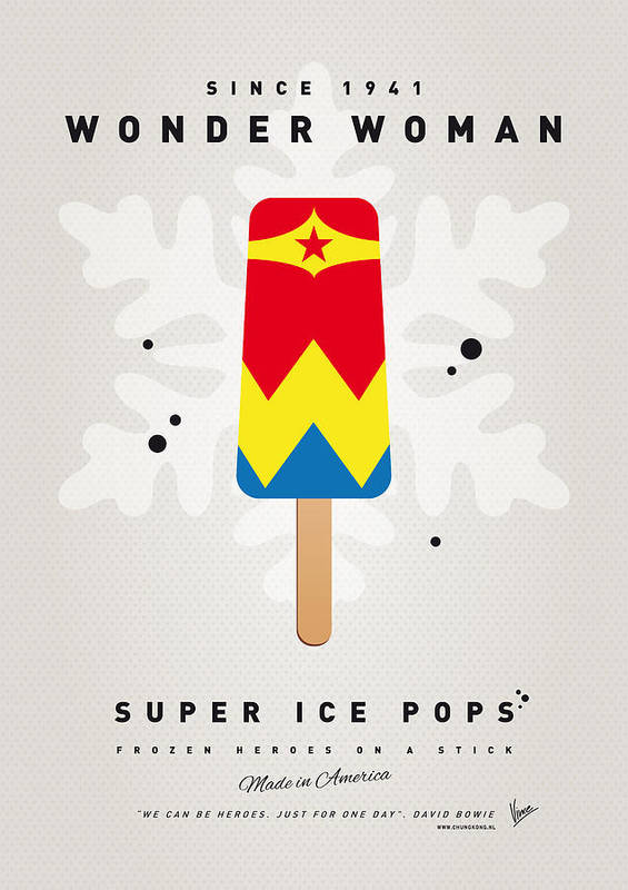 Superheroes Art Print featuring the digital art My Superhero Ice Pop - Wonder Woman by Chungkong Art