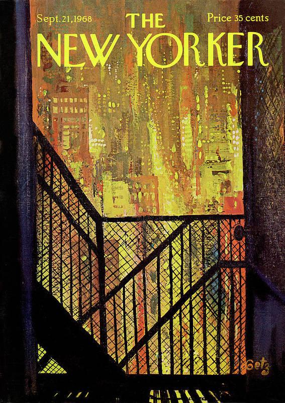 Arthur Getz Agt Art Print featuring the painting New Yorker September 21st, 1968 by Arthur Getz
