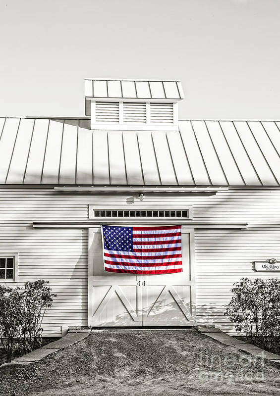 Vermont Art Print featuring the photograph Old Glory Circa 1776 by Edward Fielding