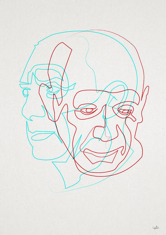 Single Line Unicode Art : Oneline picasso art print by quibe