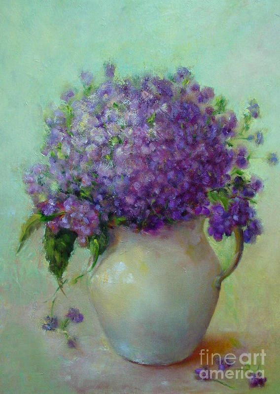 Floral Painting Art Print featuring the painting Phlox     Copyrighted by Kathleen Hoekstra