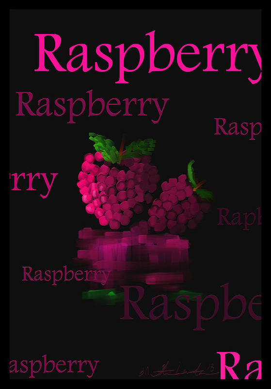 Raspberry Art Print featuring the painting Raspberry - Fruit And Veggie Series - #11 by Steven Lebron Langston