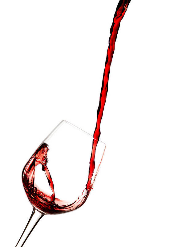 Parties Art Print featuring the photograph Red Wine. by Suphakit Wongsanit