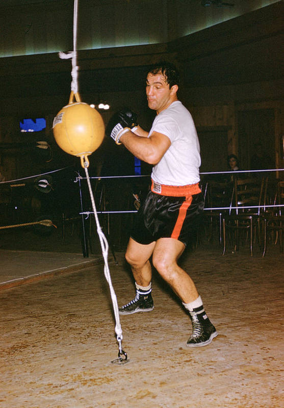 Marvin Newman Print featuring the photograph Rocky Marciano Training by Retro Images Archive