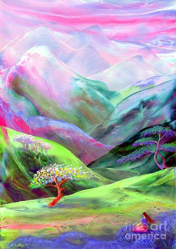 Spring Print featuring the painting Spirit Of Spring by Jane Small