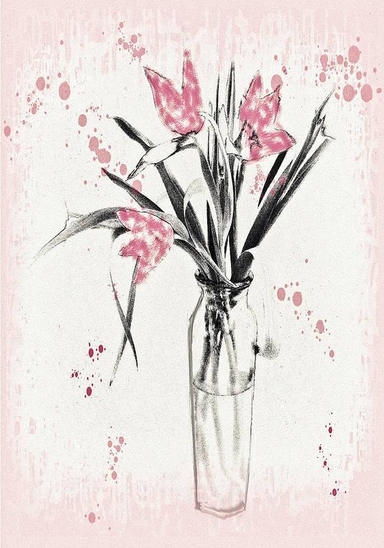 Digital Art Art Print featuring the digital art Splattered Paint by Jill Balsam