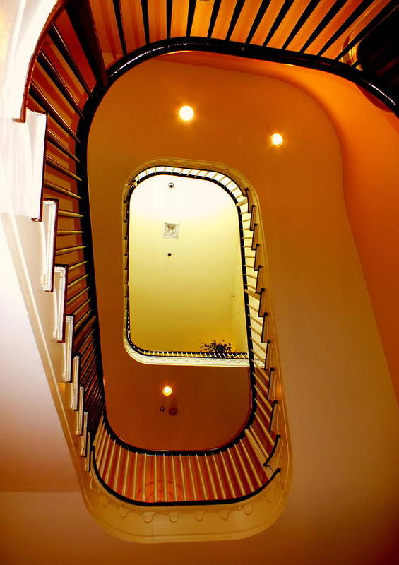 Contemporary Art Print featuring the photograph Stairway To Heaven by Karen Wiles