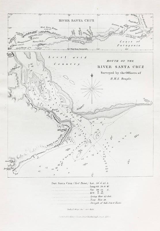 Santa Cruz River Art Print featuring the photograph Survey Of The Santa Cruz River by Natural History Museum, London/science Photo Library