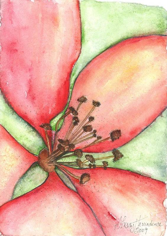 Orchards Art Print featuring the painting The Crowd Pleaser 1 by Sherry Harradence
