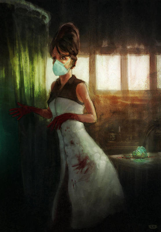 Woman Art Print featuring the painting The Transplant by Ethan Harris
