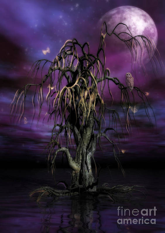 Tree Of Souls Print featuring the painting The Tree Of Sawols by John Edwards