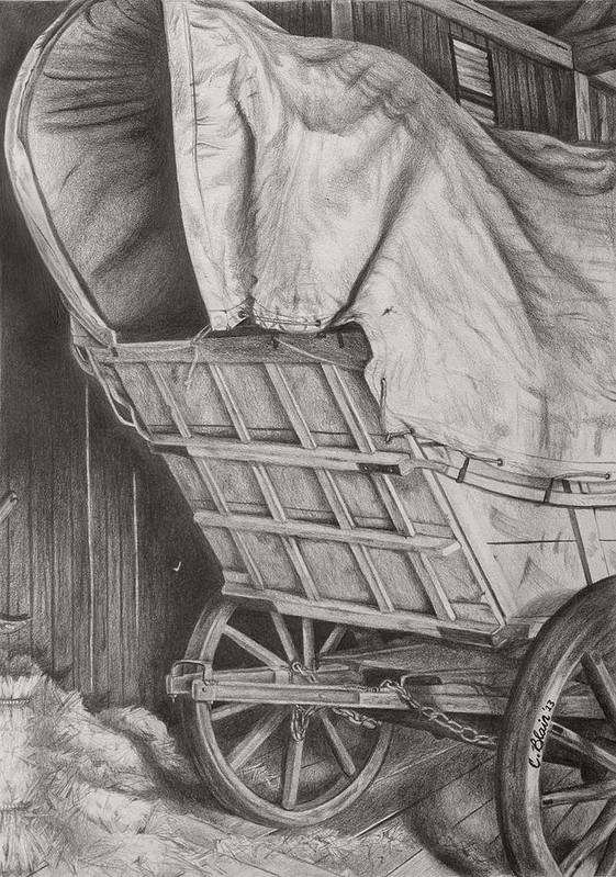 Chelsea Blair Art Print featuring the drawing The Weary Traveler by Chelsea Blair