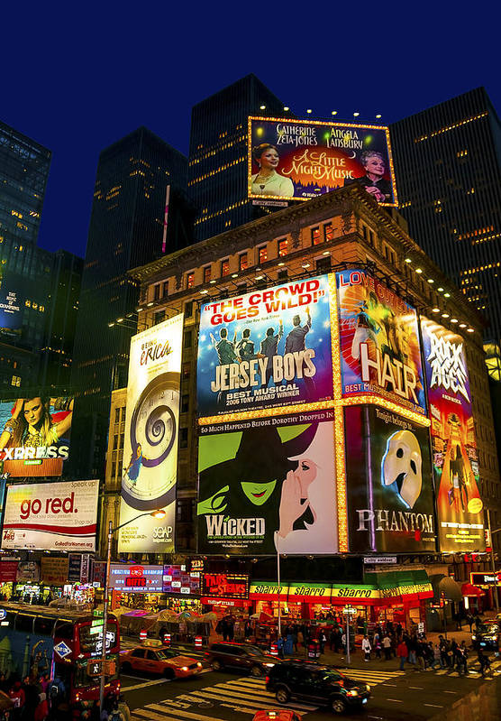 America Art Print featuring the photograph Times Square by Svetlana Sewell