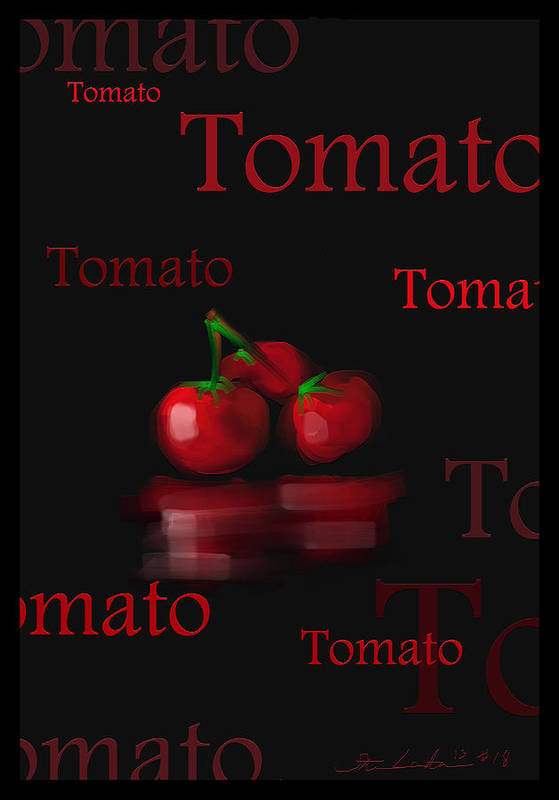 Tomato Art Print featuring the painting Tomato - Fruit And Veggie Series - #18 by Steven Lebron Langston