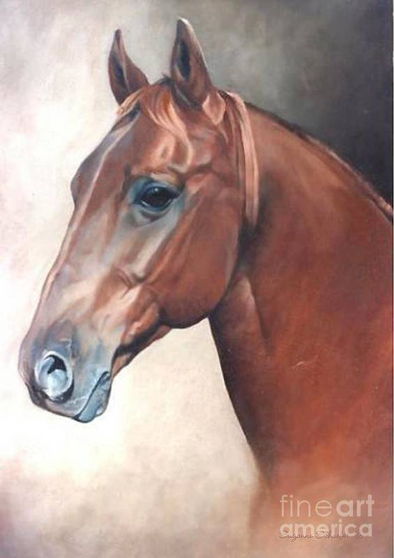 Horses Art Print featuring the painting Winddancer by Suzanne Schaefer