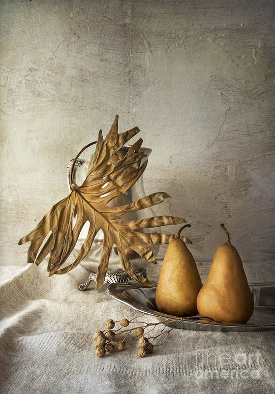 With Pears Art Print featuring the photograph With Pears by Elena Nosyreva